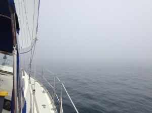 Sailing in the fog - eerie