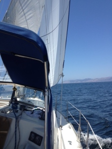 Sailing in the sunshine!