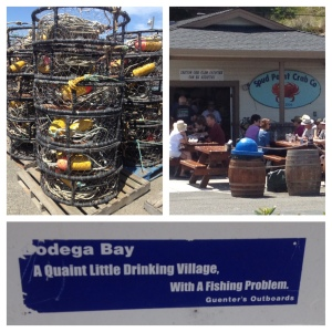 Bodega Bay - crab traps, Spud Pt Crab Co and a a description of the town
