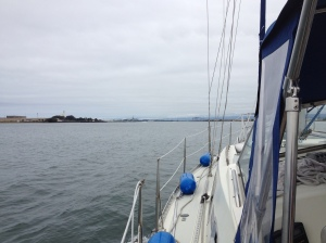 Entering Humboldt Bay