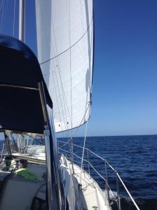 A tiny bit of sailing