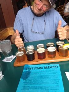 Lost Coast Brew sampler - happy campers