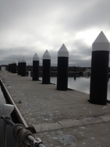 The guest dock at Crescent City Marina