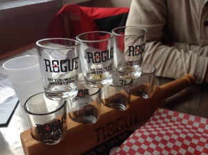Rogue brewery tasters