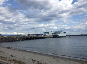 Ferries are a common sight here