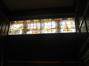 stained glass at mansion
