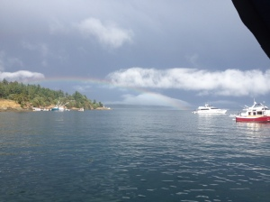 Rainbow at Friday Harbor