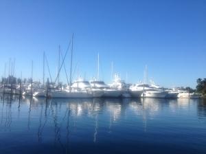 Tsehum Harbour, Sidney, BC - lots of mega yachts