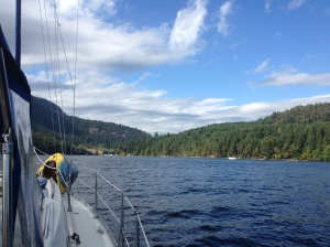 Entering Genoa Bay