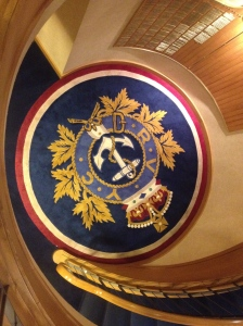 RVYC pretty staircase and emblem
