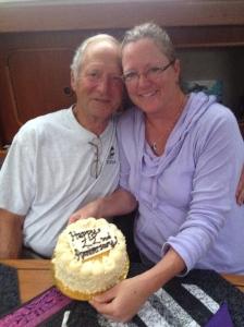 22nd anniversary cake!