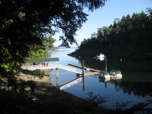 This is the Butchart gardens dinghy dock - we motored over here and entered the gardens this way