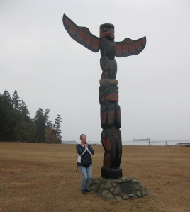 Totem pole at Newcastle Island Park