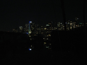 Evening lights of downtown Vancouver