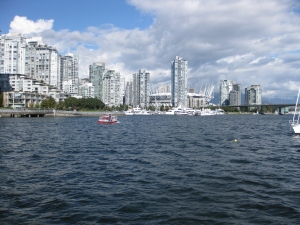Area surrounding anchorage in False Creek