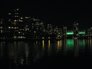 Lights at False Creek