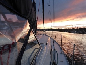 Beautiful evening sail (photo credit - Anne Brumwell)