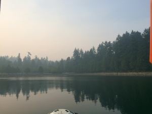 Smoke on the water - forest fires raging in BC