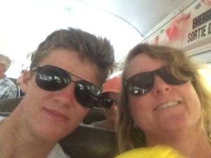 Noah and I on the Pub Bus