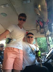 Noah and Tommy Transit, the famous pub bus driver