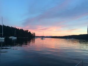 Russell Island sunset