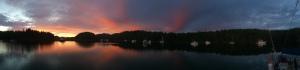 Von Donop inlet sunset