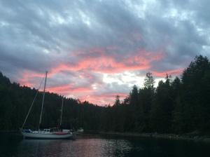 Alfred Island sunset