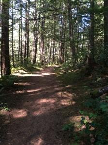 Hiking at Roscoe Bay
