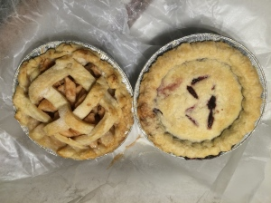 Little pies were for sale right up from the marina - selling out of someone's house.  One blackberry and one apple.  Yum!