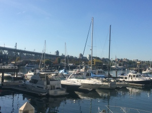At the dock in False Creek