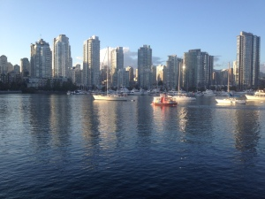 Anchored in Vancouver with lots of activity around us